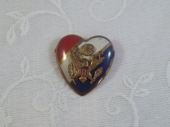 Silbros DPat 120626 WWII Sweetheart Brooch by LittleWomenVintage, $38.00