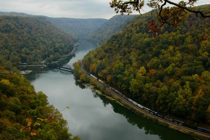 These 18 Unique Day Trips In West Virginia Are A Must-Do    Hawk's Nest, located in Ansted, WV, is one of West Virginia's most famous pieces of scenery.
