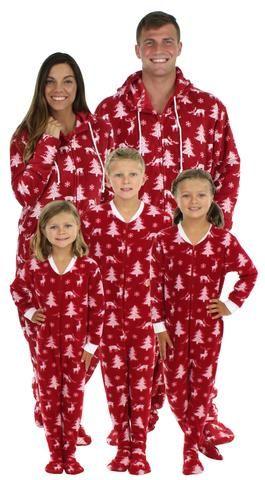 SleepytimePjs Family Matching Cranberry Deer Onesie Footed Pajamas  SleepytimePjs family matching cranberry deer footed pajamas are perfect for  the entire ... d5470d701