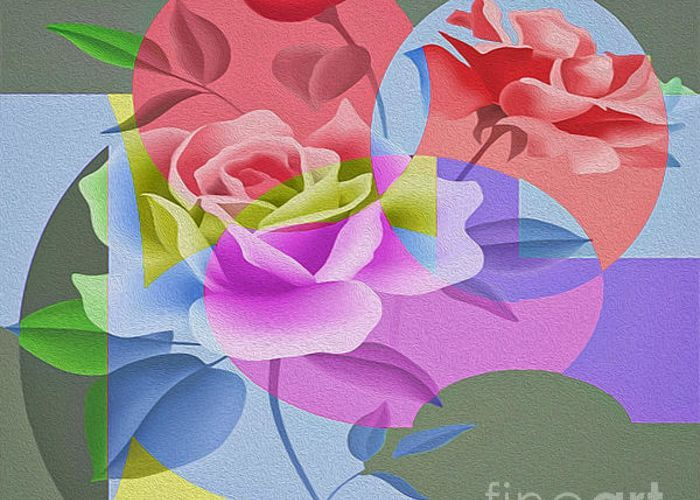 Roses For Her Greeting Card by Eleni Mac Synodinos