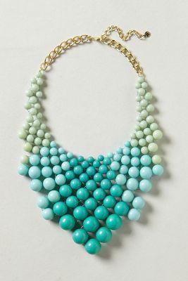 Ocean Bauble Bib Necklace >>> Anthropologie
