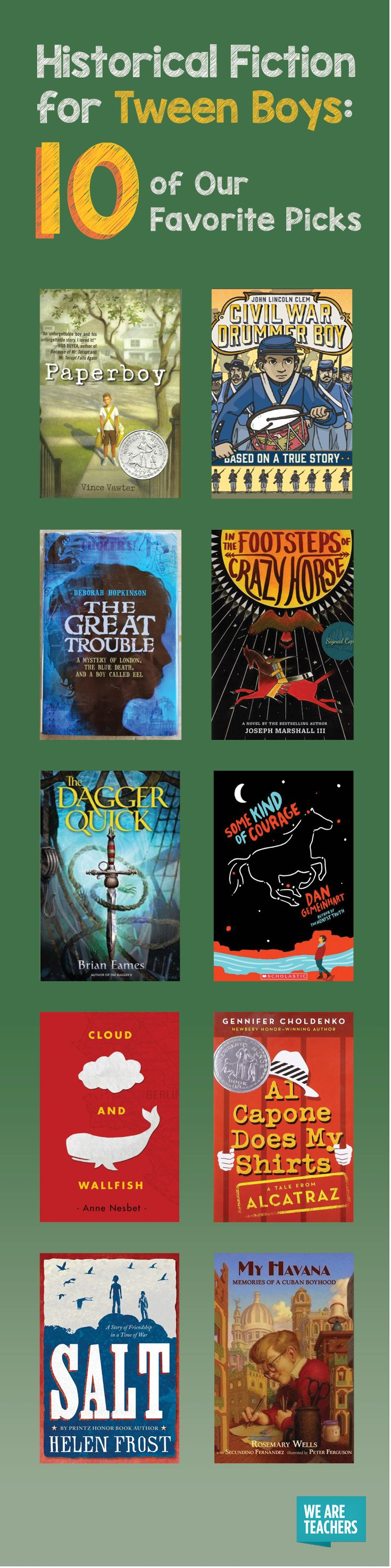 Historical Fiction For Tween Boys: 10 Of Our Favorite Picks