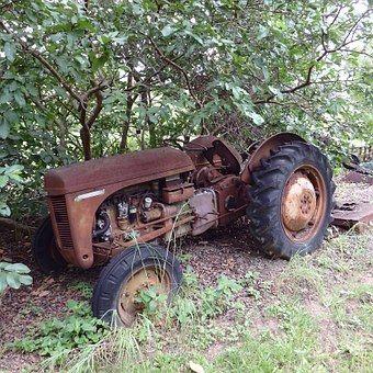 Rustic, Rusty, Old, Tractor, Farm