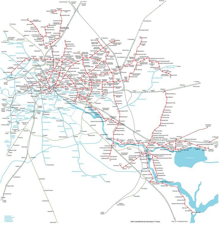 Berlin Tram Network Straßenbahn Netzplan © Felix Thoma + Robert Schwandl
