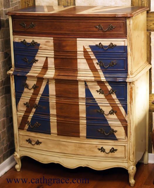 CathGrace:  Union Jack Dresser