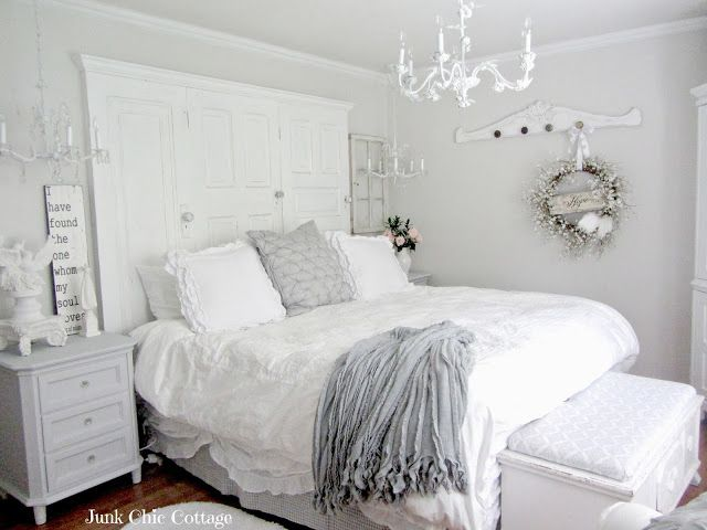 Junk Chic Cottage: Second Time Is The Charm. Iu0027m A Big Fan Of Monochromatic  Bedrooms And This One Is Very Well Done.