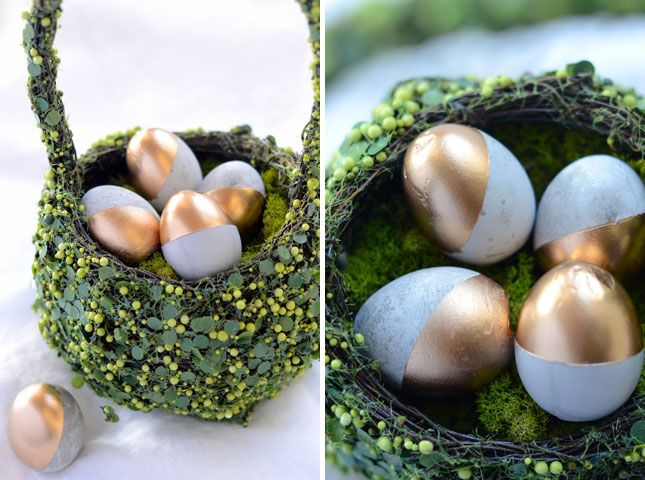 Cement Easter Eggs | 26 DIY Concrete Projects