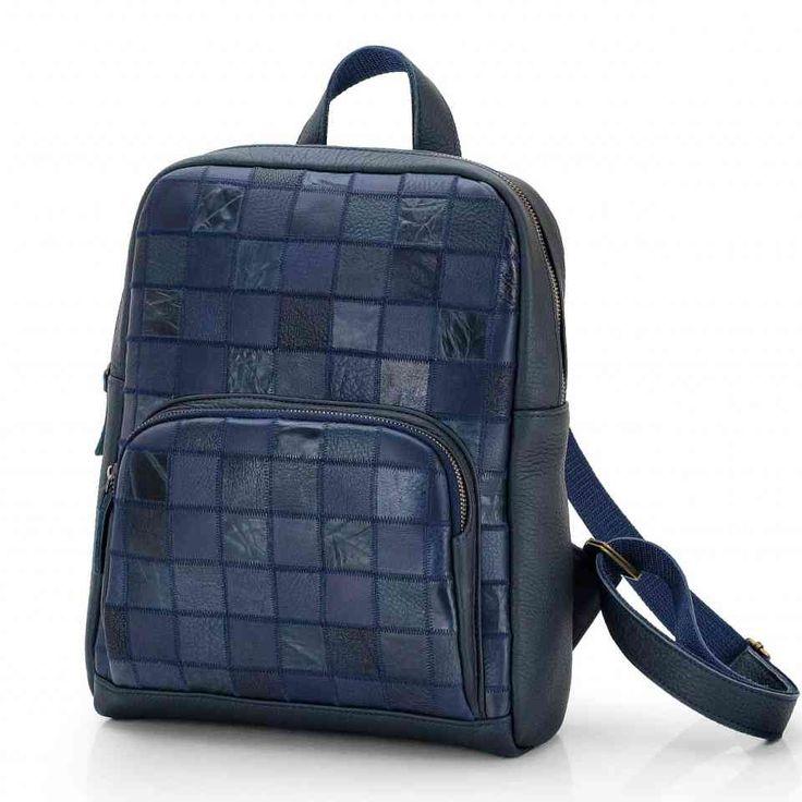 Рюкзак женский кожаный синий / Рюкзак ручной работы / Рюкзаки женские Leonid Titow
