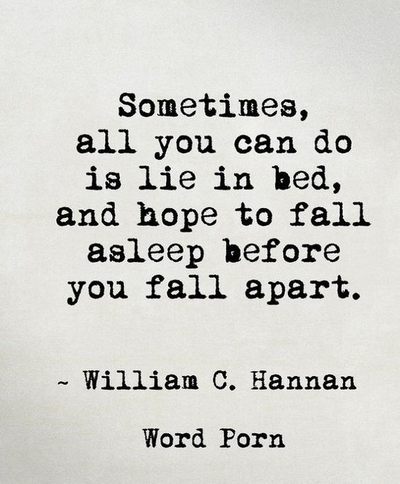 Missing Quotes : Sometimes, All You Can Do Is Lie In Bed