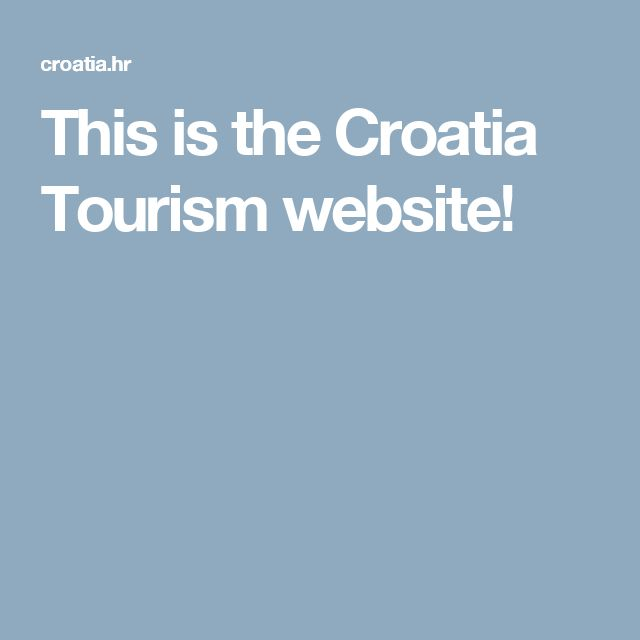 This is the Croatia Tourism website!