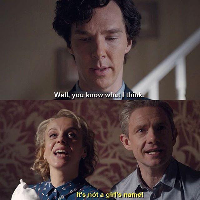 """Sherlock S04 E01 """"The Six Thatchers"""". Season 4. John and Mary look so happy ☺️"""
