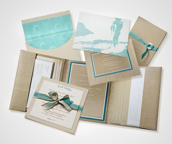 Ellen and her team source papers from around the world, combining them into beautiful custom invitation suites.
