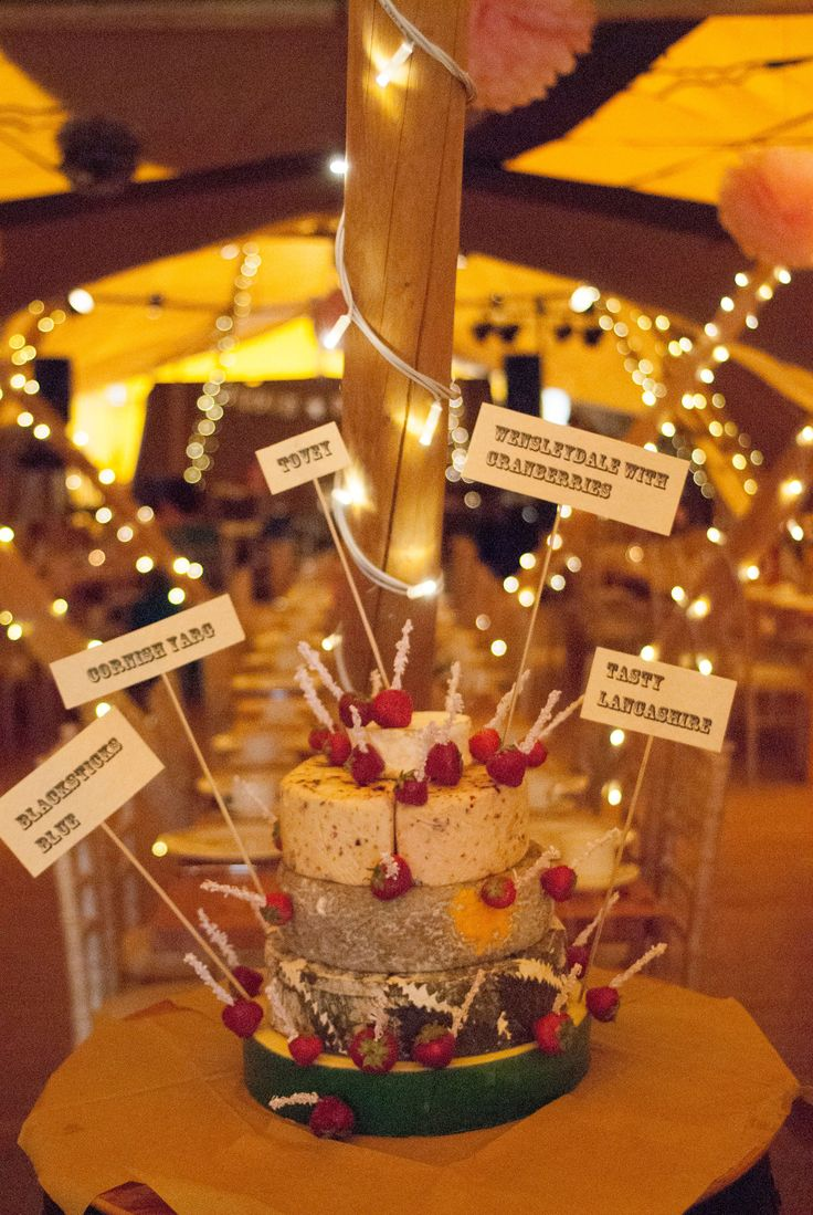 """""""Cheesecake, cake made of cheese!!!"""" No not a Peter Kay sketch. One of the trendy ideas at weddings and parties to have a """"cake"""" made up with different cheeses with grapes, carrot sticks, crusty bread, butter curls, crackers and sometimes pate. It can sometimes save on the need for a large evening buffet. It can be left out for guests to """"pick at"""", and at the very least is a talking point. Cheeses can be chosen to suit personal tastes and budget. #cheesecake, #foodporn, #cateringcheshire"""