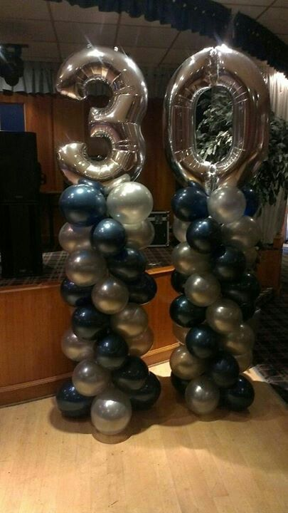Jumbo Foil Number Balloon Display Www Bellissimoballoons