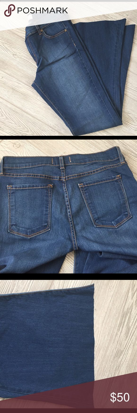 Free People jeans Free People jeans, super flare, rayon, cotton and poly, cut on pants hem,   Never worn Free People Jeans Flare & Wide Leg
