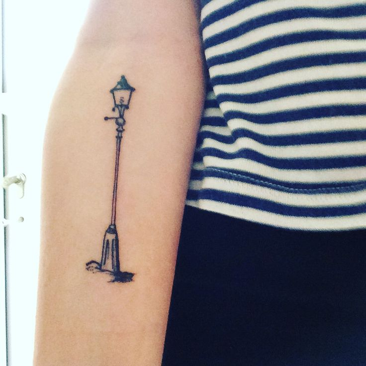 My first official tattoo! Lamp post from narnia!!