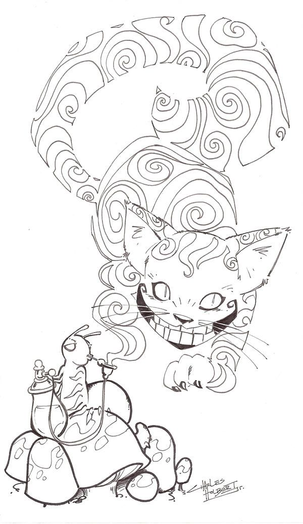 Sketchy Cheshire Cat By Kidnotorious Steampunk Coloring Animal Coloring Pages Cat Coloring Page