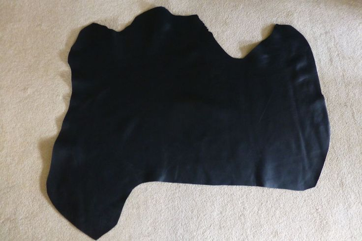 4.5 SqFt LUXURY COW LEATHER HIDE - BLACK in Crafts, Leathercraft | eBay