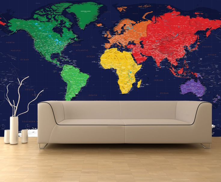 9 best Map Murals images on Pinterest Murals, Wall murals and Wall - best of world map for wall mural