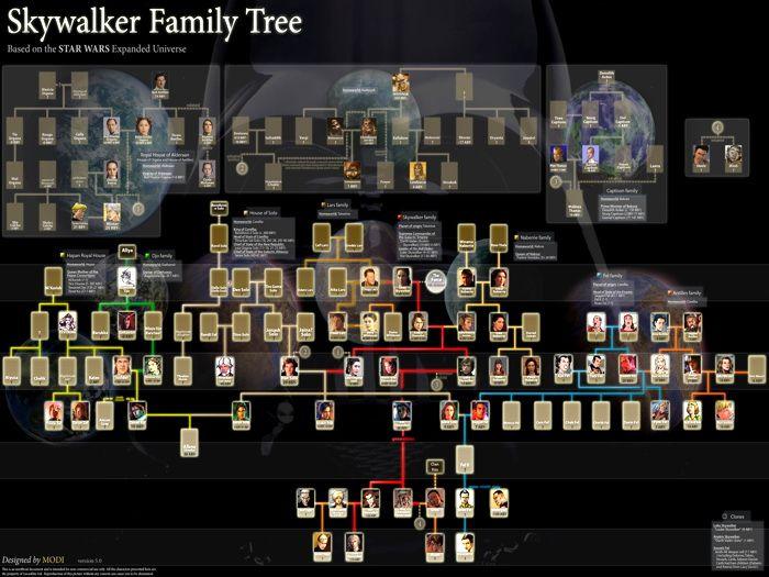 Skywalker family tree star wars movie 2 wikichicks for Arbol genealogico star wars