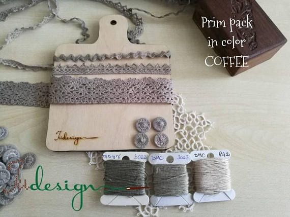 Check out this item in my Etsy shop https://www.etsy.com/listing/560503838/hand-dyed-prim-pack-in-color-coffee
