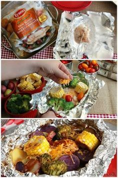 Just because you're camping doesn't mean you have to eat nuts and berries. Whether you call them hobo meals or foil packets these simple recipes are perfect for camping. This easy Cheddar BBQ Chicken foil packet meal is the perfect camping food. Cook it over a fire or on your grill at your summer parties. You can even bake them in the oven for a quick and easy weeknight meal!