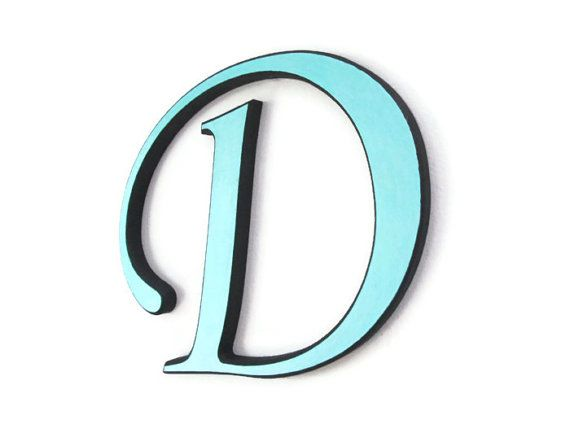 Painted Wooden Letter D decorative wall letter by ...