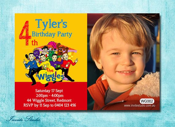 Wiggles Birthday Party Invitation Customised by EstyInviteStudio, $12.95