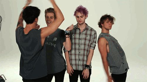 I love this so much. 5SOS dancing GIF  - Sugarscape.com