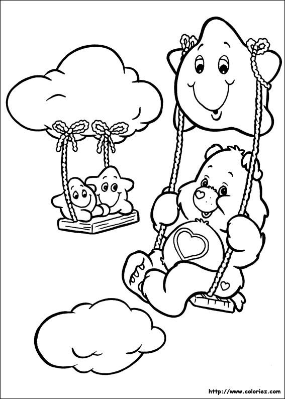 Free Carebears Coloring Pages Book