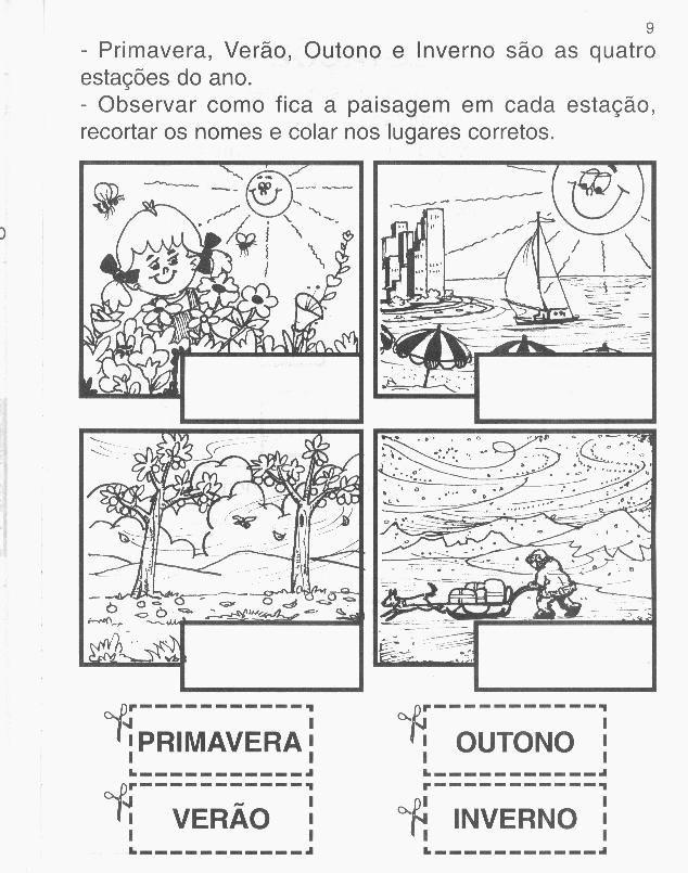 ATIVIDADES PARA EDUCAÇÃO INFANTIL: CLIMA E ESTAÇÃO DO ANO