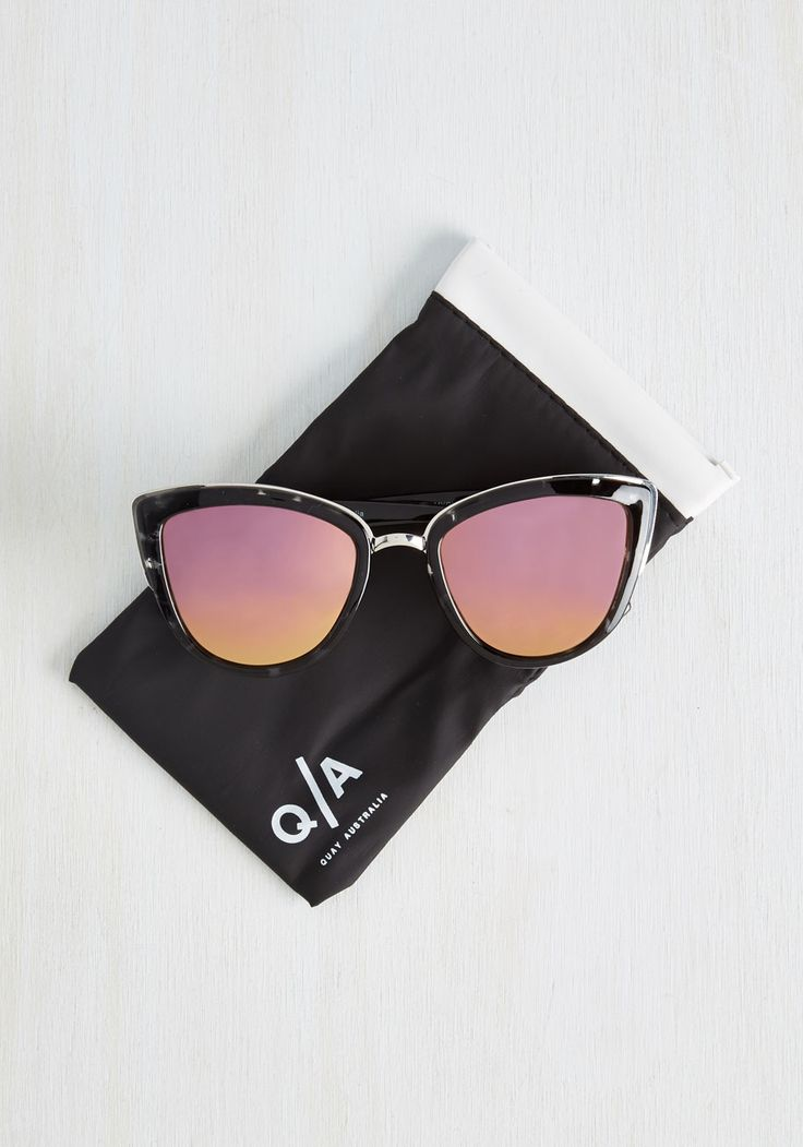 My Girl Sunglasses in Black. People cant help but ask about your My Girl sunnies from Quay Australia every time you sport them with style! #black #modcloth