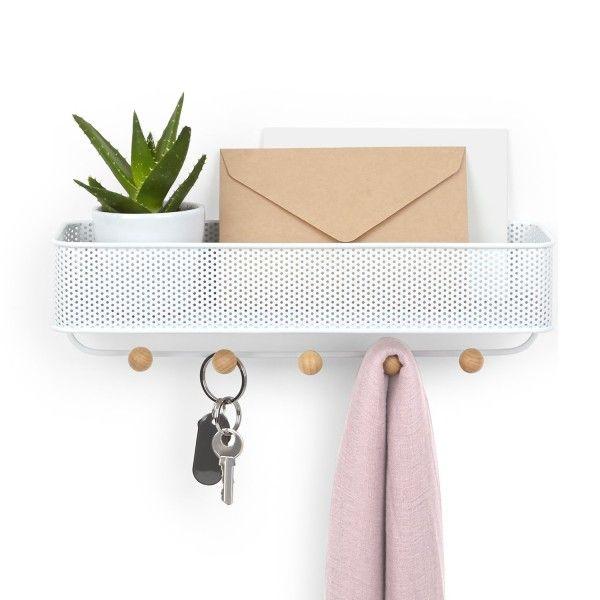 Porta-Chaves e Organizador Estique Branco