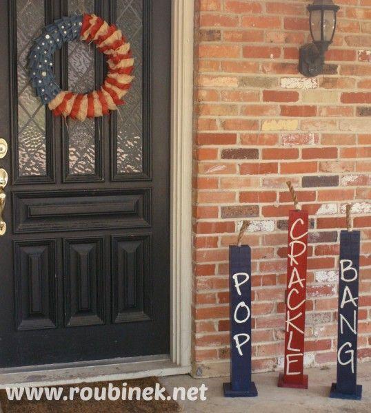 DIY July 4th Firecrackers - Roubinek Reality