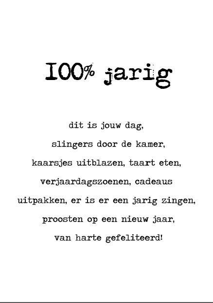 100% jarig