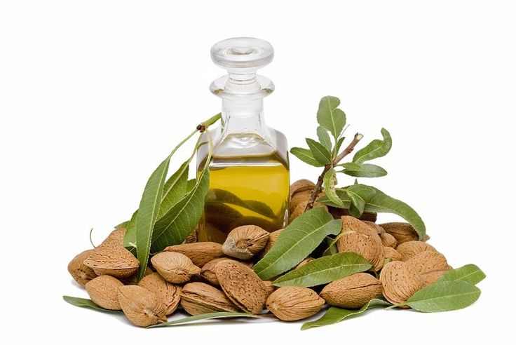 We use natural sweet and bitter almond oil.