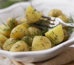 Smørdampende kartofler med dild