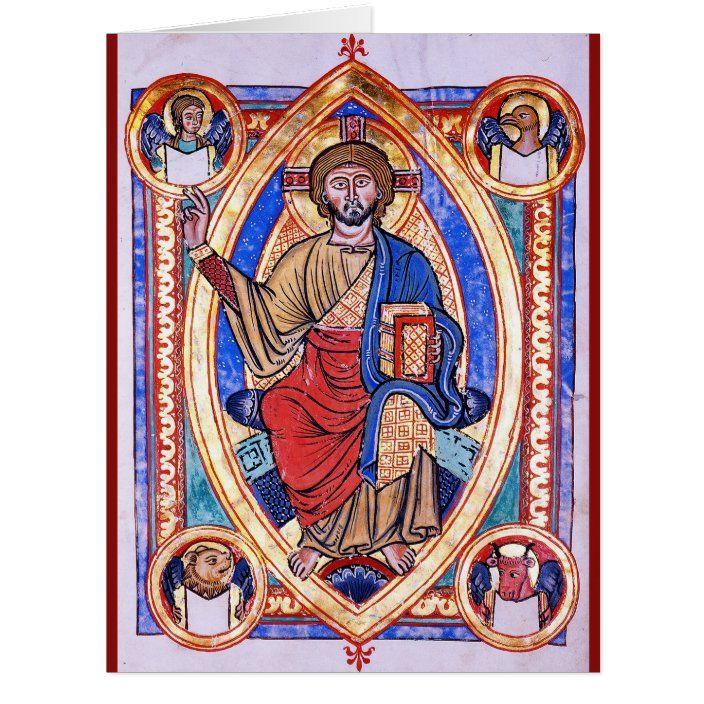 Christ In Majesty Zazzle Com In 2021 Romanesque Art The World Tarot Card The World Tarot