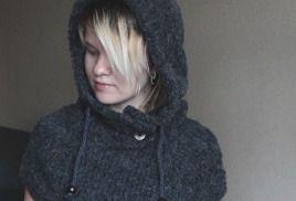hooded cowl, hooded scarf, hood / капюшон снуд манишка