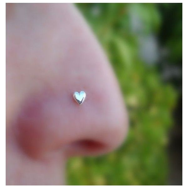 Valentine Heart Nose Ring Stud ❤ liked on Polyvore featuring jewelry, earrings, heart jewelry, studded jewelry, heart earrings, heart shaped stud earrings and heart jewellery