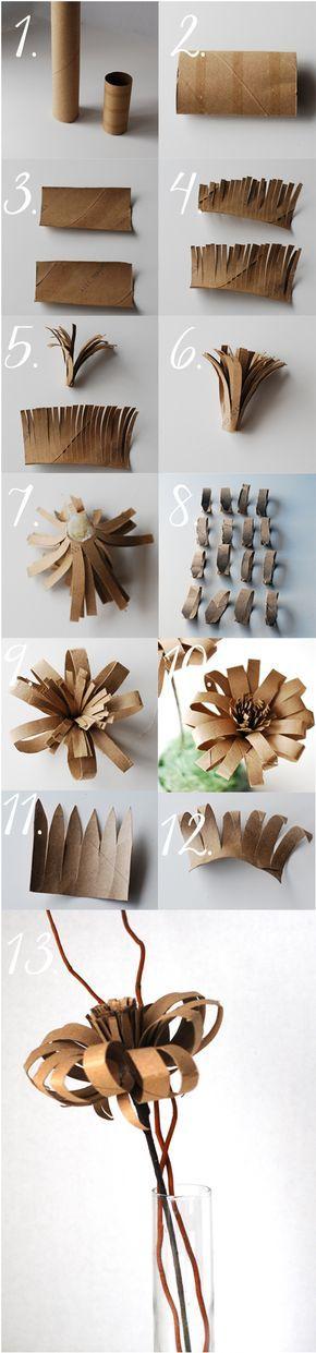 istruzioni di fiori igienica tubo di carta