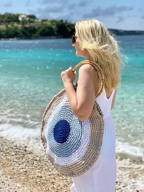 Sidney Artesanato: Moda bolsas de verão... em 2020 (com imagens) | Bolsas de praia de crochê, Padrões de bolsas de crochê, Bolsas de crochê