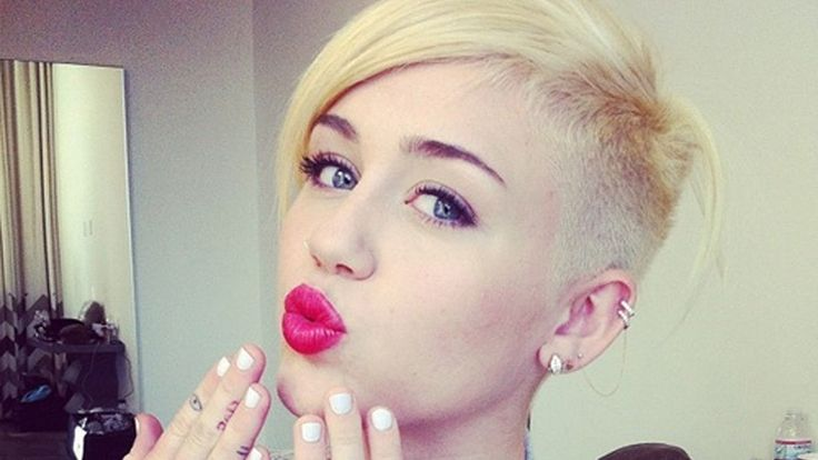 miley cyrus hipster haircut #hairstyle #blonde #hair #short #beauty #celebs #celebrity #fashion #2014
