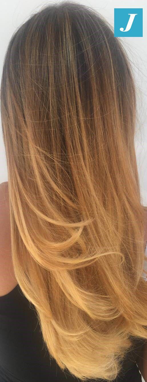 Intense Honey Shades _ Degradé Joelle #cdj #degradejoelle #tagliopuntearia #degradé #igers #musthave #hair #hairstyle #haircolour #longhair #ootd #hairfashion #madeinitaly #wellastudionyc