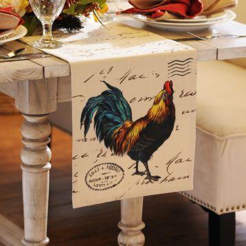 Merveilleux Rooster Table Runner