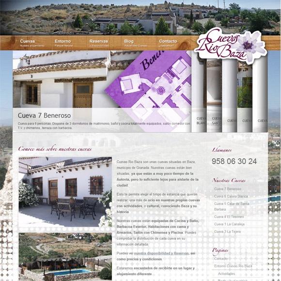 Diseño Web realizado para el Alojamiento Rústico y troglodita en Baza, Granada. Promoción de sus cuevas a través de una nueva página web.