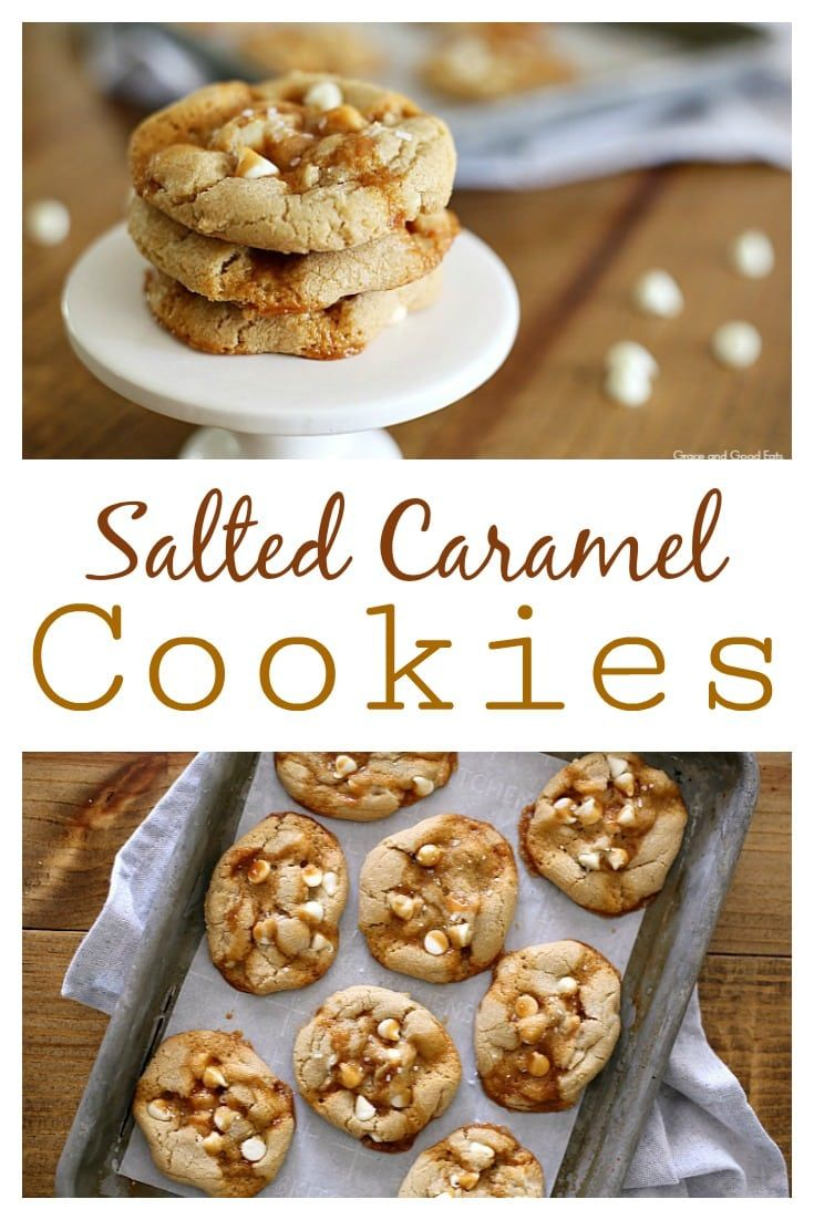 These Salted Caramel Cookies Are A Match In Caramel Flaky Sea Salt White Chocolate Chip Heaven N Salted Caramel Cookies Caramel Cookies Freezable Cookies