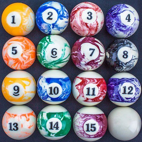 marbled pool table billiard ball set by felson billiard supplies felson billiard supplieshttp