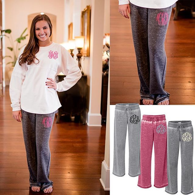 See why are customers are going CRAZY over these monogrammed Zen Fleece Sweatpants!!! Link in bio! Monogrammed Pom Pom Jersey also available! #monogram #boutique #sweatpants #ladiesmonogramstyle #loungewear #southernmonogramboutique #shopBTBS