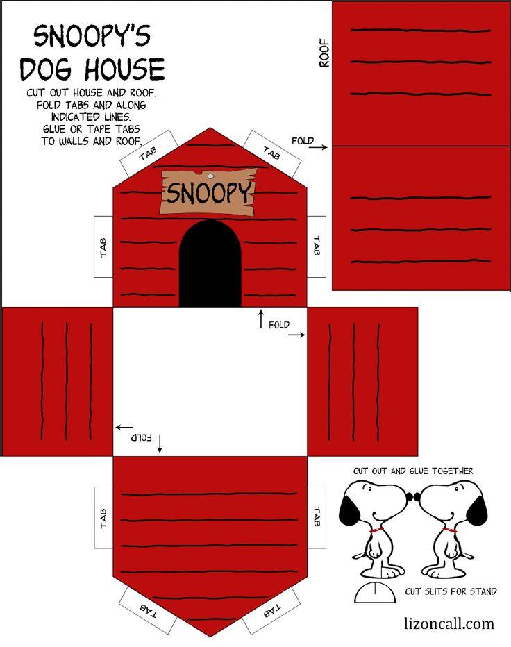2 of 2--- http://lizoncall.com/2015/11/06/printable-snoopy-dog-house-kid-craft/